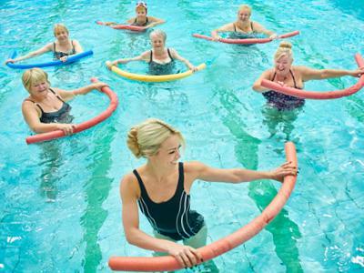 Аквааэробика для похудения - упражнения в бассейне фото