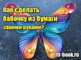 Фото Как сделать бабочку из бумаги своими руками