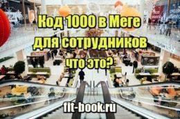 Фото Код 1000 в Меге для сотрудников - что это