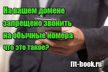 Изображение На вашем домене запрещено звонить на обычные номера - что это такое