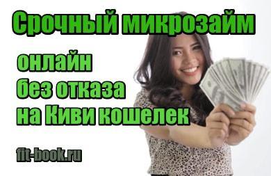 мини фото Срочный микрозайм онлайн без отказа на Киви кошелек