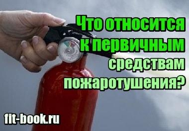 Фотография Что относится к первичным средствам пожаротушения