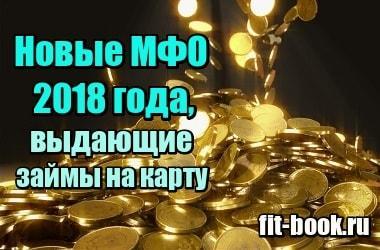 Фото Новые МФО 2018 года, выдающие займы онлайн по всей России на карту