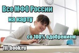 Картинка Все МФО России - на карту со 100% одобрением с очень плохой историей